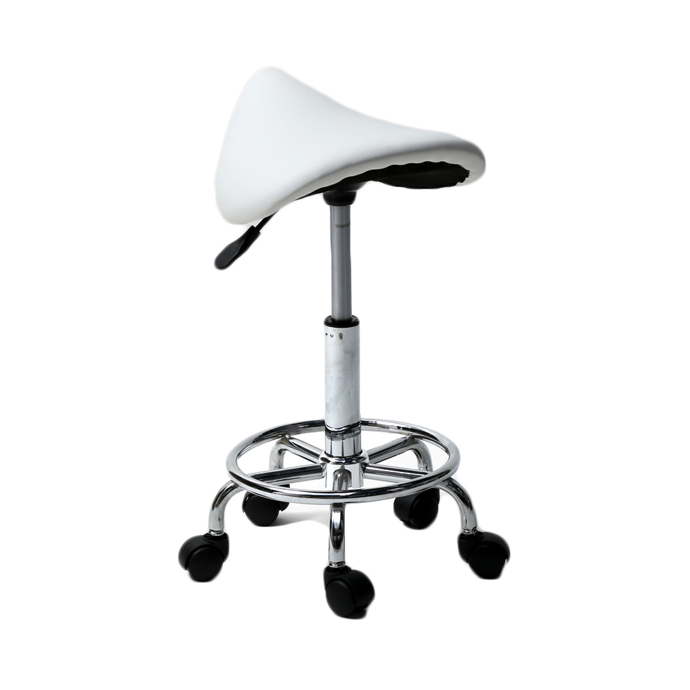 Salon Bar Stool Rolling Adjustable Saddle Chair Spa Seat