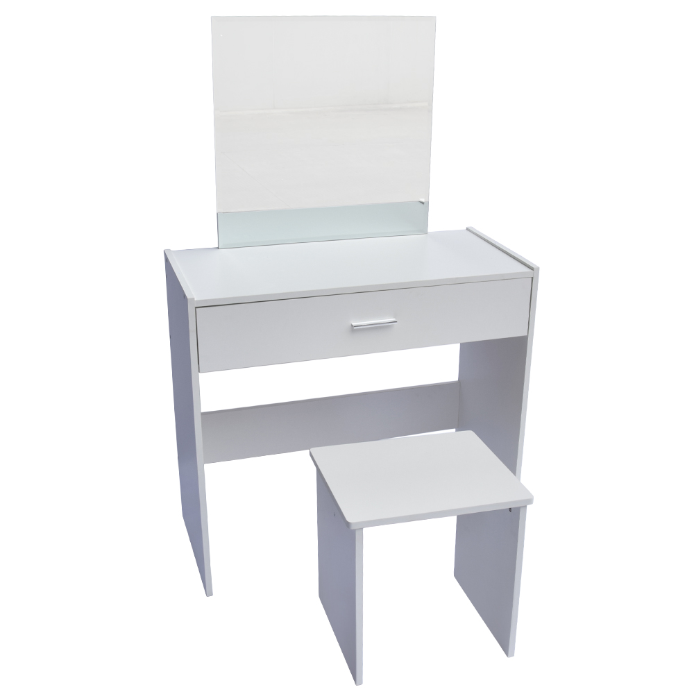 Dressing Table Vanity Unit Makeup Desk Set With Stool Mirror Bedroom