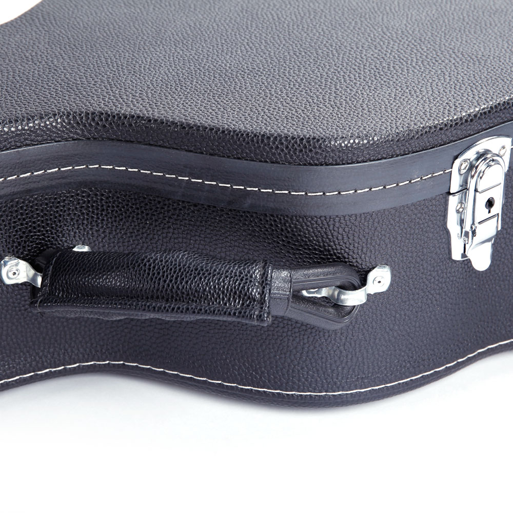 39 inch simple style classical guitar hard shell case bag durable sturdy black ebay. Black Bedroom Furniture Sets. Home Design Ideas